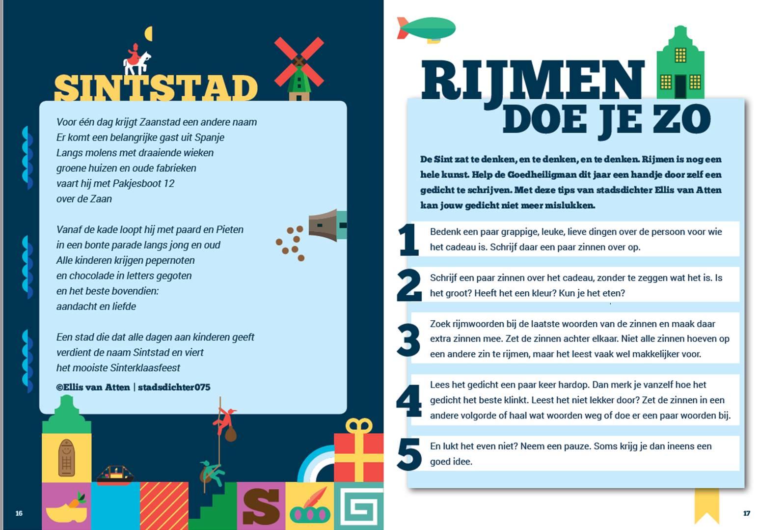 Stadsdichter En Sinterklaas De Zaanse Dichterskring